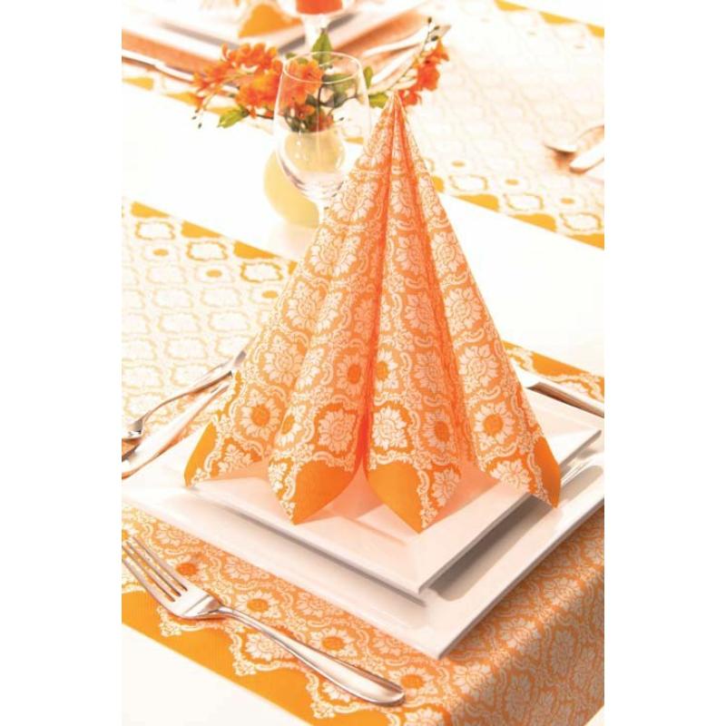 Textilhatású szalvéta 40x40 cm Mandy – curry - 69971