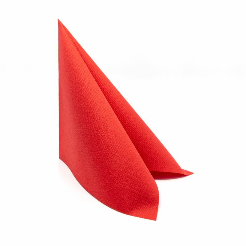 Textilhatású szalvéta 40x40 cm – piros
