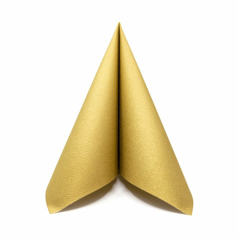 Textilhatású szalvéta 40x40 cm - arany - 88952