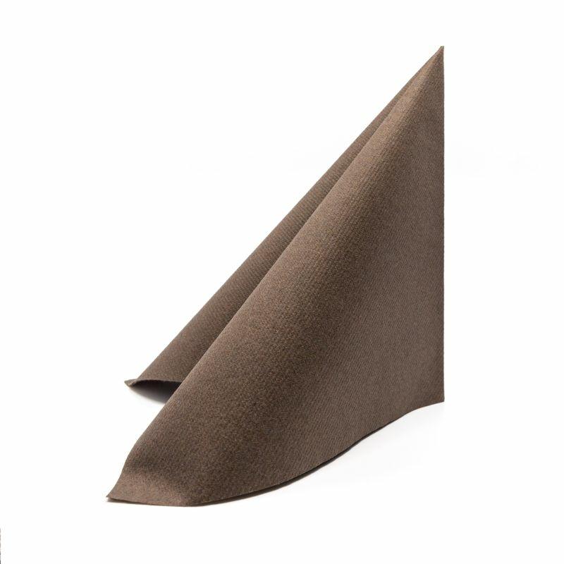 Textilhatású szalvéta 40x40 cm - barna - 87516