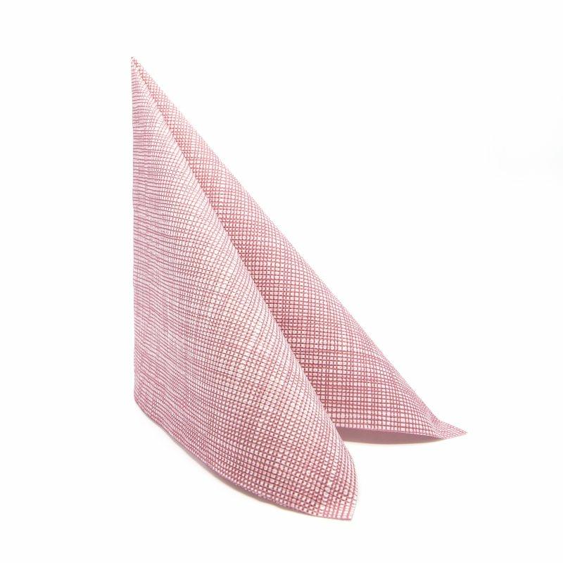 Mikropunto szalvéta 40x40 cm Gama Hilo - bordó - 40ntblhbu
