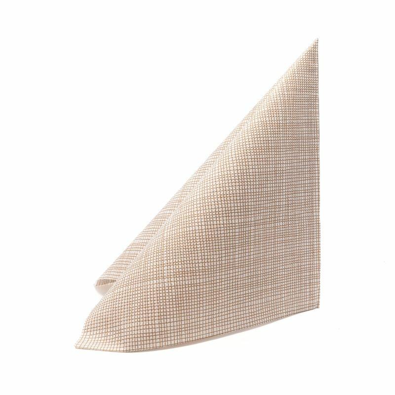 Mikropunto szalvéta 40x40 cm Gama Hilo - barna - 40ntblhma