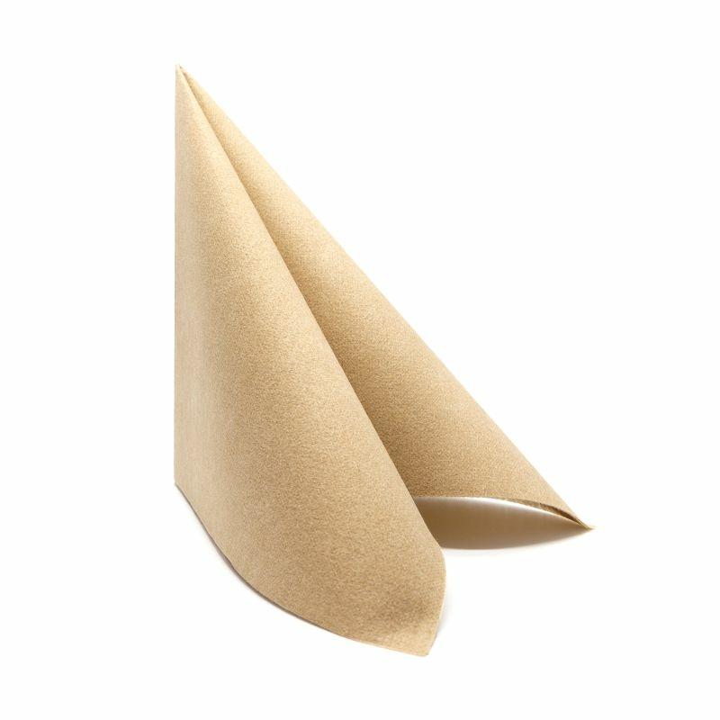 Textilhatású szalvéta 40x40 cm Eco - naturbarna - a40g