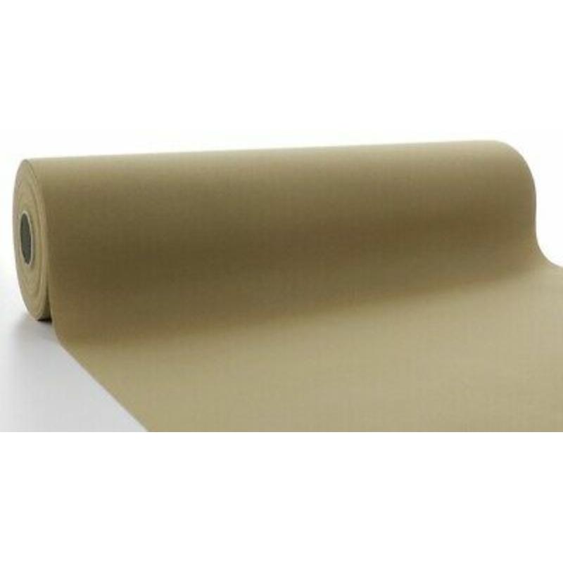 Asztali futó 40 cm x 24 m textilhatású - naturbarna