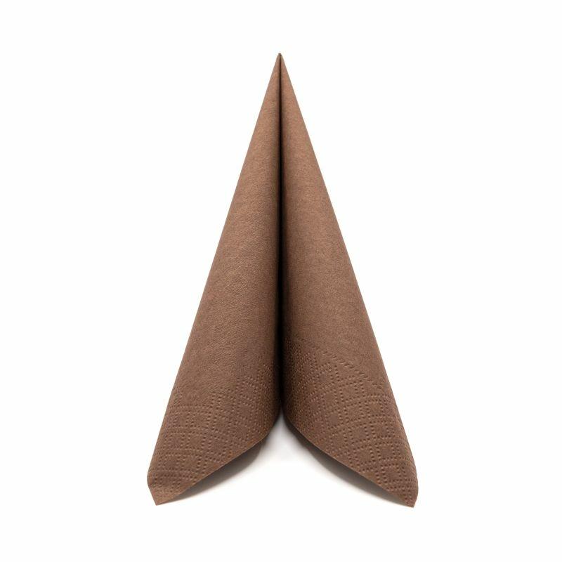 Papírszalvéta 33x33 cm 2 réteg barna - v334c270050a03