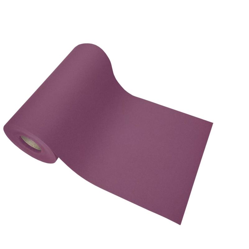 Asztalszalag 20 cm x 20 m textilhatású - padlizsán