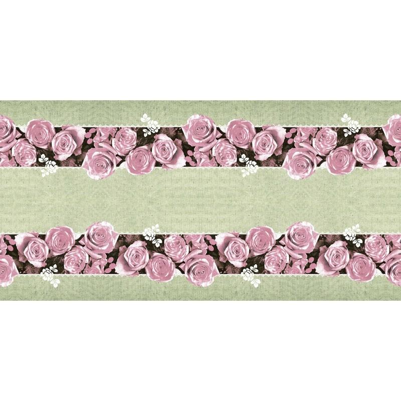 Asztali futó 40 cm x 24 m textilhatású Lovely Roses - rózsa