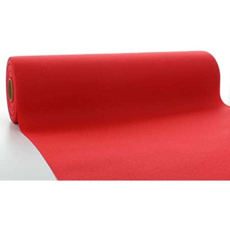 Asztali futó 40 cm x 24 m textilhatású - piros
