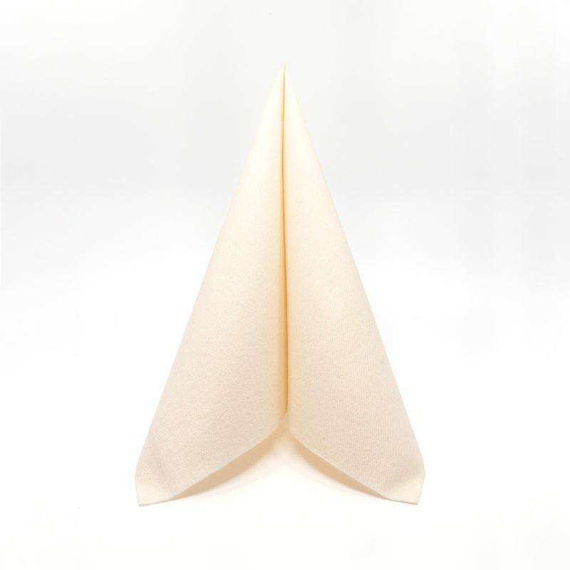 Mikrotextil hatású szalvéta 40 x 40 cm Tinta Unita pasztell krém - 6400260