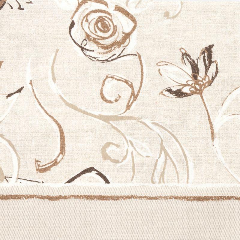 Mikrotextil hatású szalvéta 40x40 cm Nancy fehér/barna - 6403820