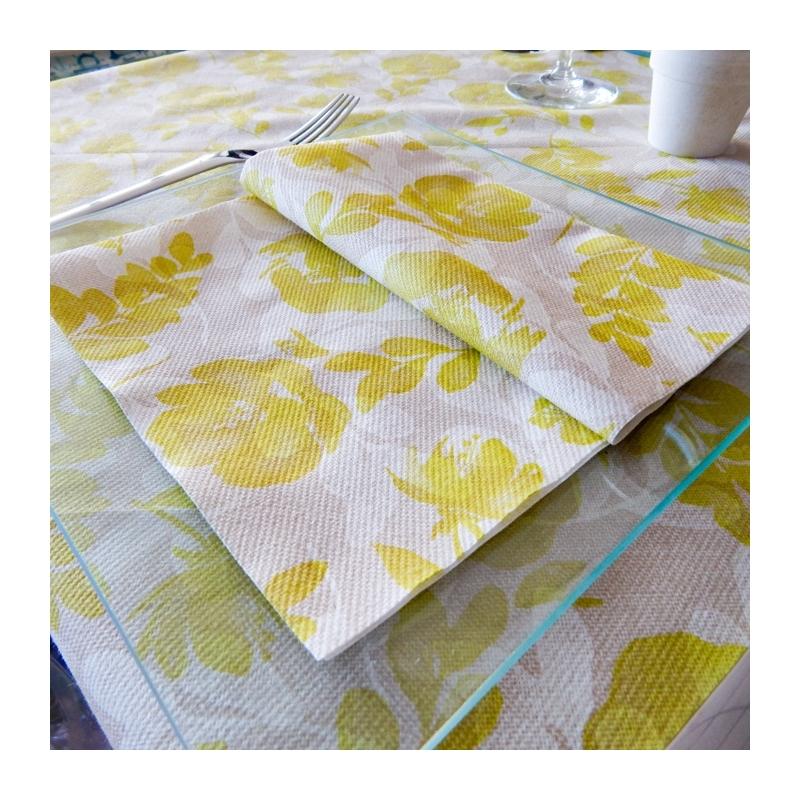 Textilhatású szalvéta 40x40 cm Garden - zöld