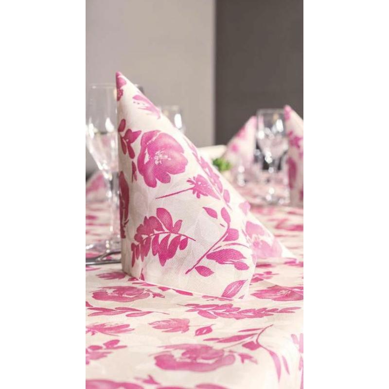 Textilhatású szalvéta 40x40 cm Garden - rózsaszín
