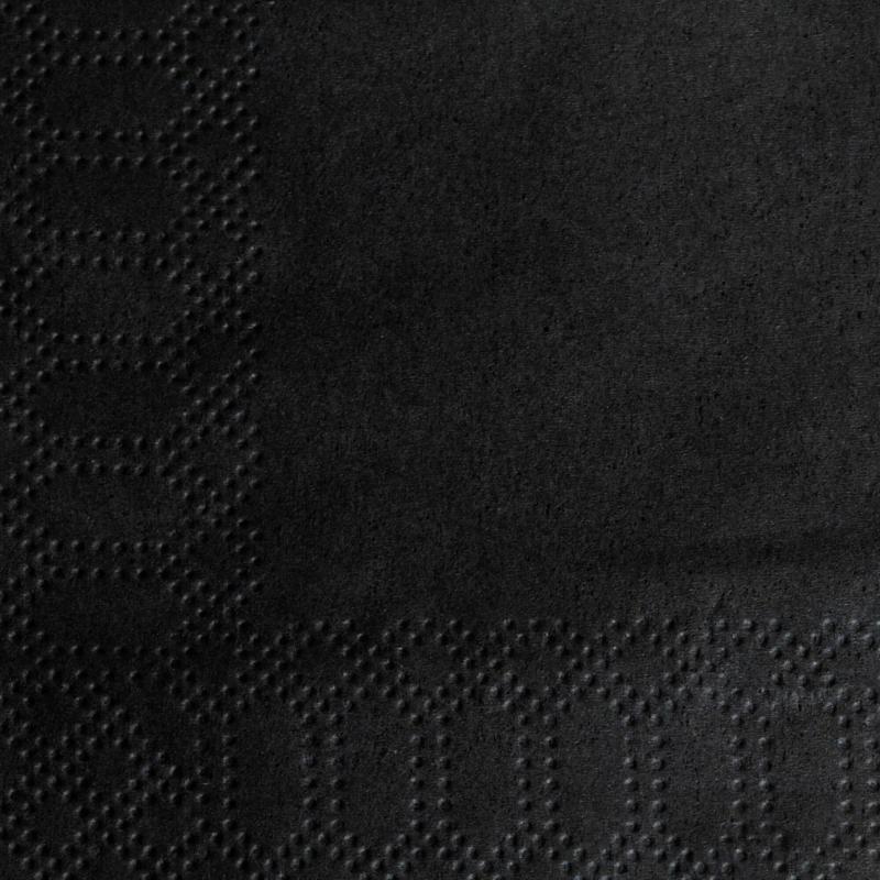 Koktélszalvéta 24 x 24 cm 2 rétegű - fekete