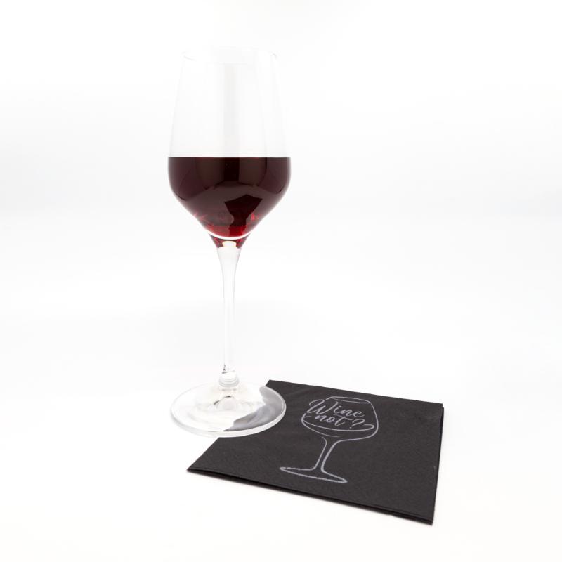 Koktélszalvéta 25x25 cm Wine - fekete - V254F4151571A