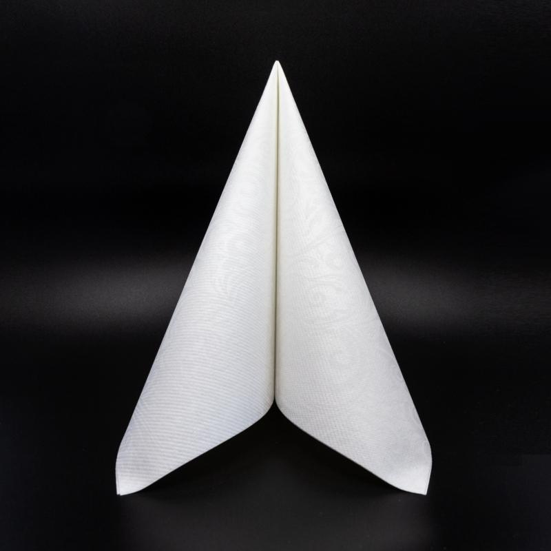 Textilhatású szalvéta 40x40 cm Lias - fehér - 88293