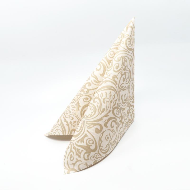 Papírszalvéta 40 x 40 cm Lias pezsgővilágosbarna - 88841