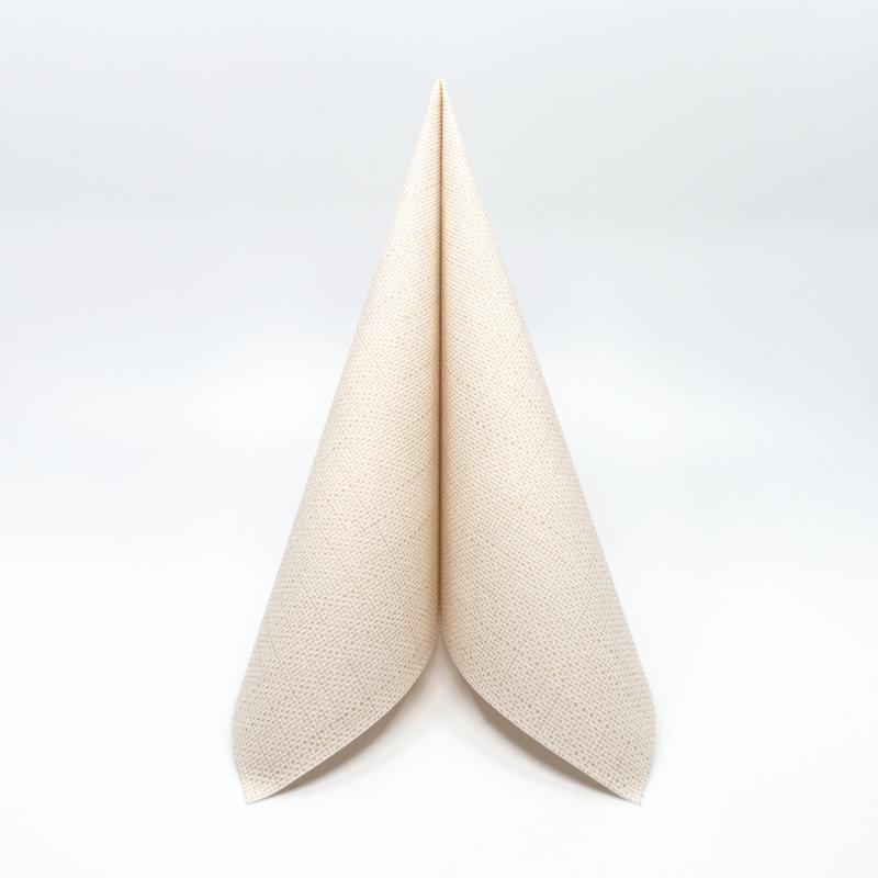 Textilhatású szalvéta 40 x 40 cm Mailand - világosbarna - 70058