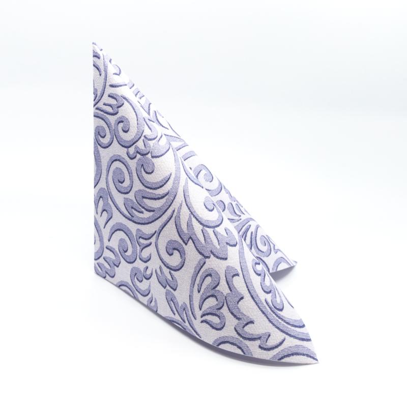 Textilhatású szalvéta 40x40 cm Bosse - púderkék - 86757