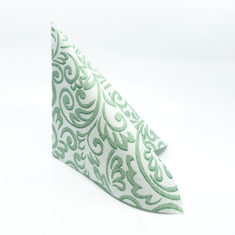 Textilhatású szalvéta 40x40 cm Bosse - zöld - 86751