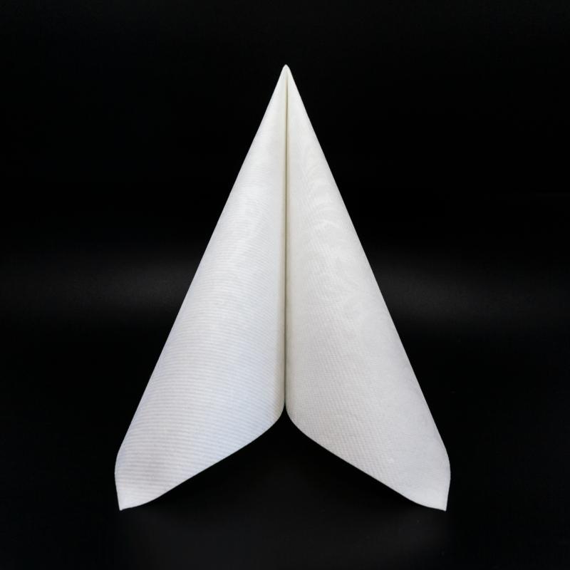 Textilhatású szalvéta 40x40 cm Carlo - fehér - 84198