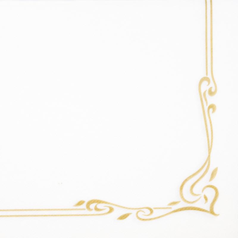 Textilhatású szalvéta 40x40 cm Color line - arany - 88342