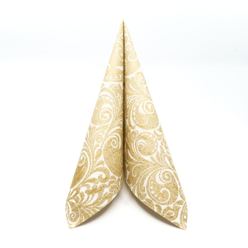 Textilhatású szalvéta Jordan - arany