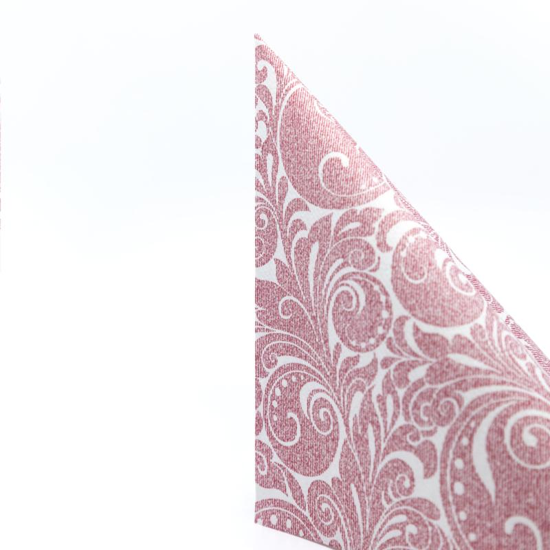 Papírszalvéta 3 rétegű 40 x 40 cm Jordan bordó