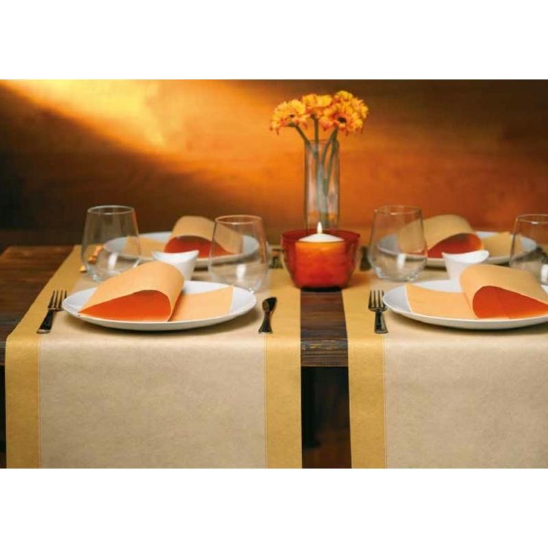 Mikrotextil hatású szalvéta 40 x 40 cm Tinta Unita pasztell narancs