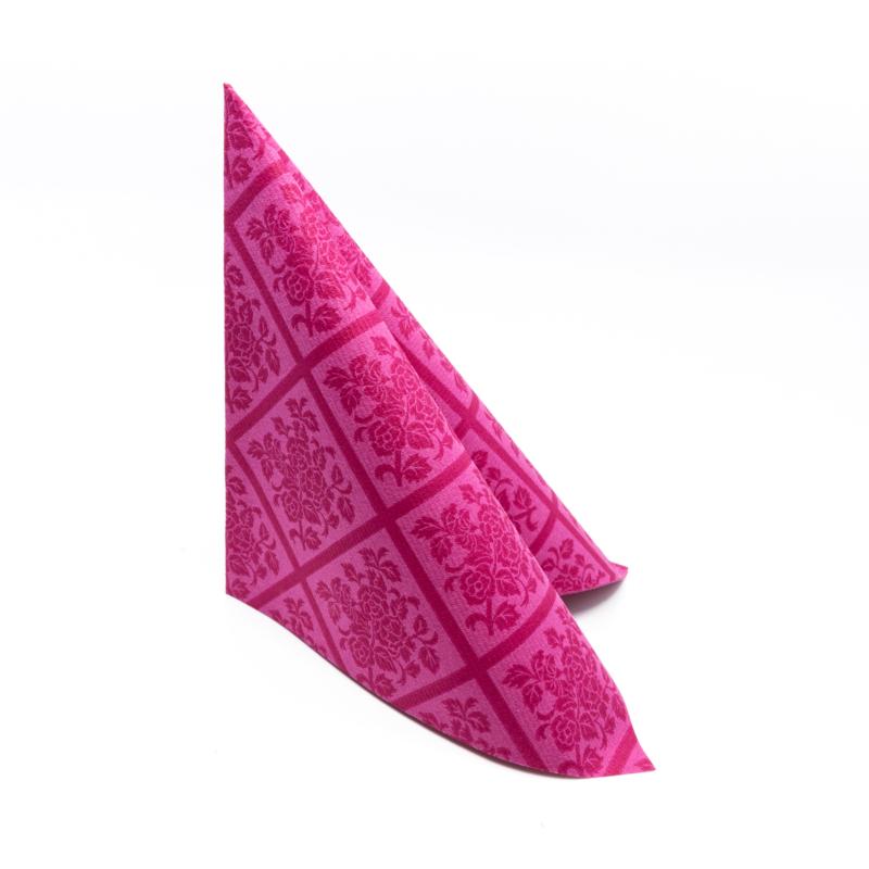 Textilhatású szalvéta 40x40 cm Damast - viola - 88300