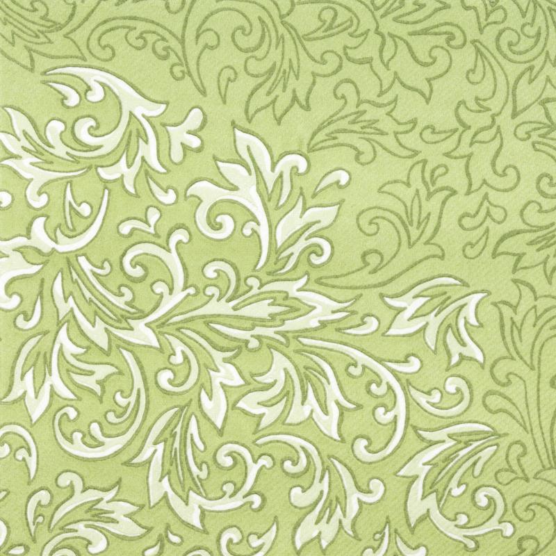 Textilhatású szalvéta 40x40 cm Delia - zöld - 88310