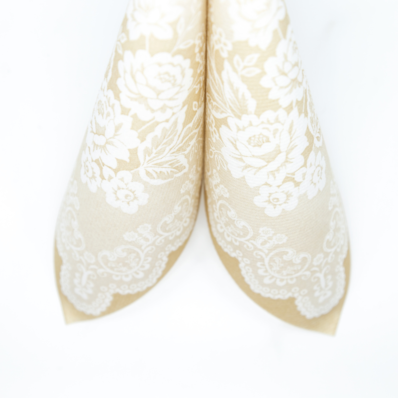 Textilhatású szalvéta 40x40 cm Franziska - bézs - 88389