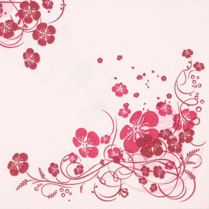Textilhatású szalvéta 40x40 cm Laurin - rózsa - 70121