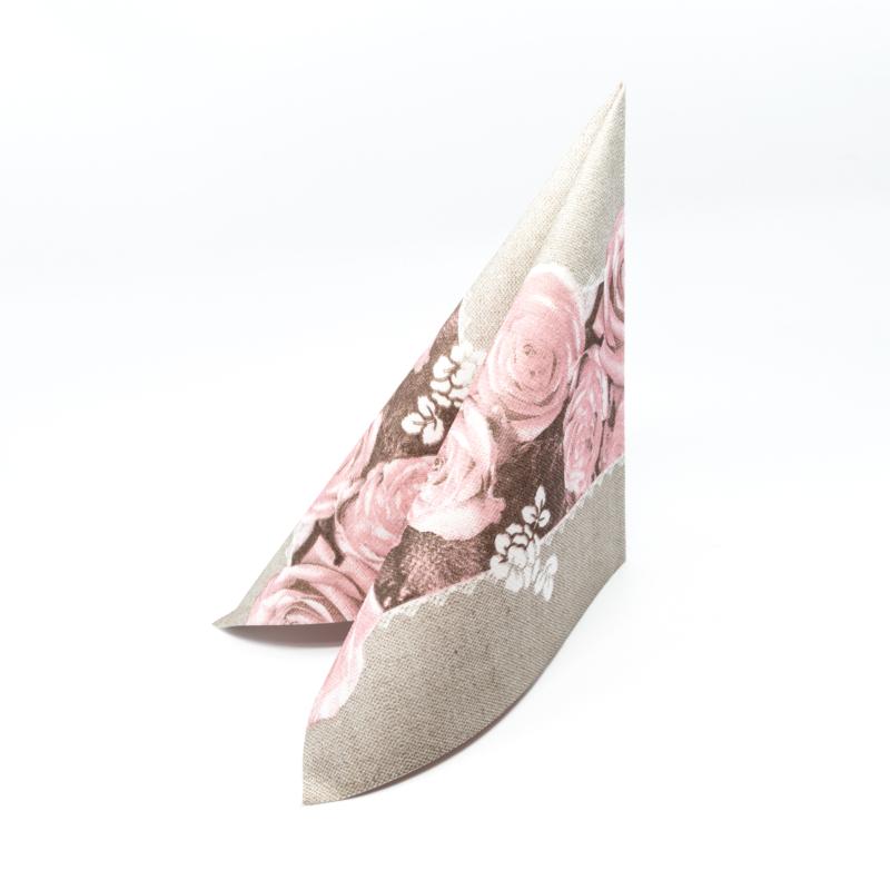 Textilhatású szalvéta 40x40 cm Lovely Roses - rózsa - 91929
