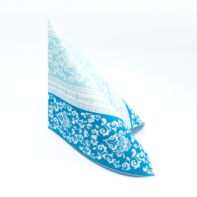 Textilhatású szalvéta 40x40 cm Pascal - kék - 88305