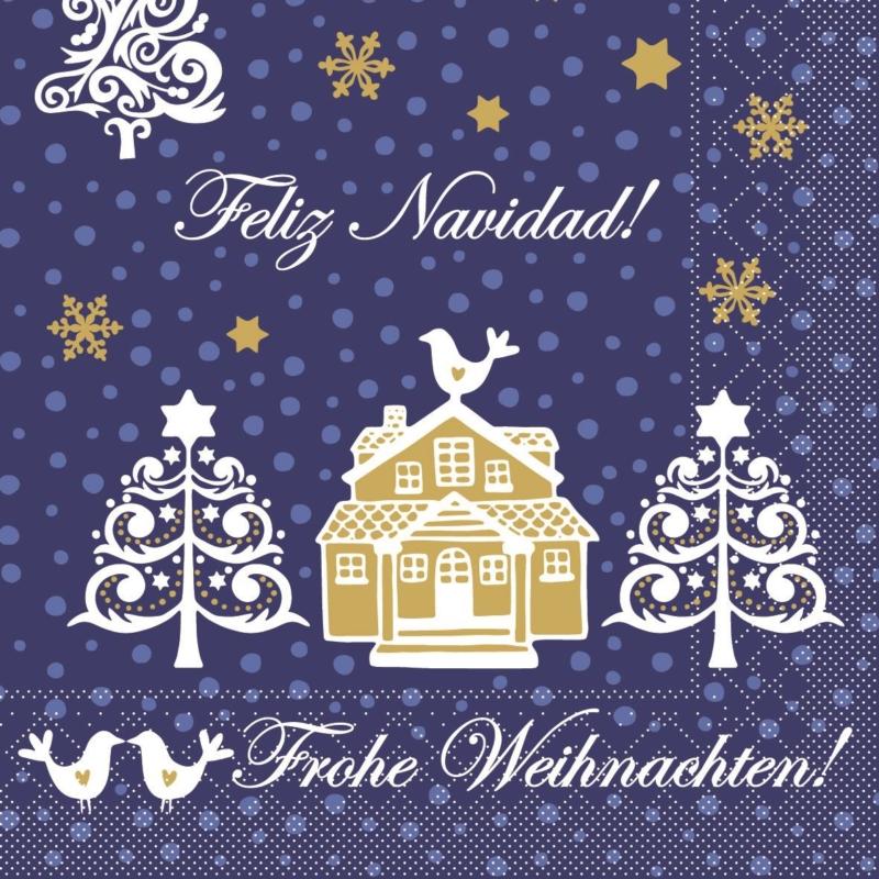 Karácsonyi textilhatású szalvéta 40x40 cm Ella - 82834