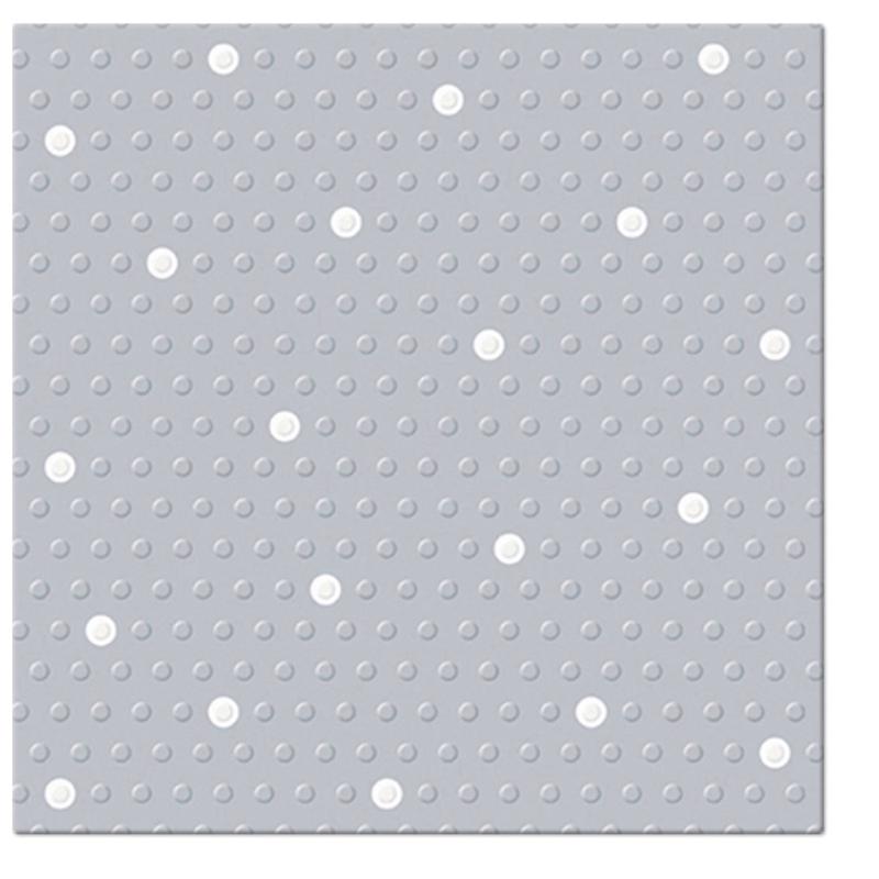 INSPIRATION DOTS-SPOTS papírszalvéta 33x33 cm 3 rétegű natúr szürke/fehér