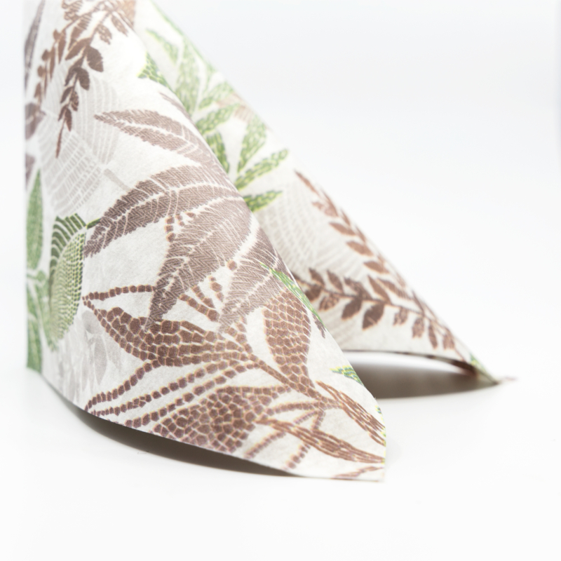 Textilhatású szalvéta 40x40 cm Rising Leaves - zöld - AAN126816