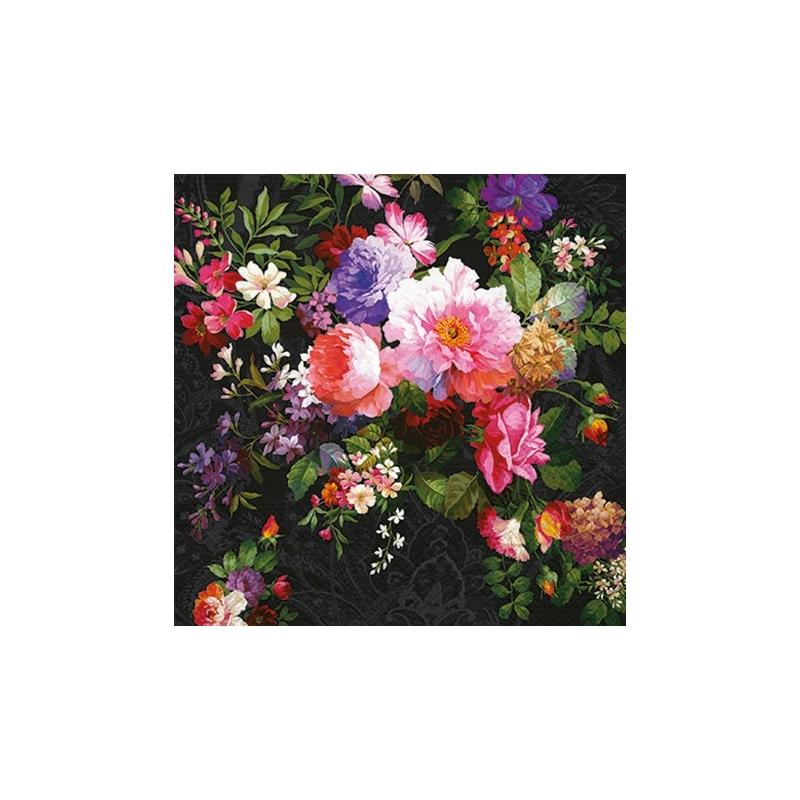 ROSES ON VELVET papírszalvéta 33x33 cm 3 rétegű rózsa mintás - SDL090200