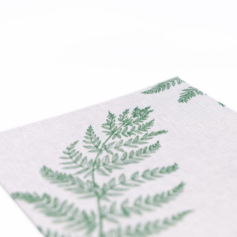 Textilhatású szalvéta 40x40 cm Fern Leaf - zöld - AAN005616